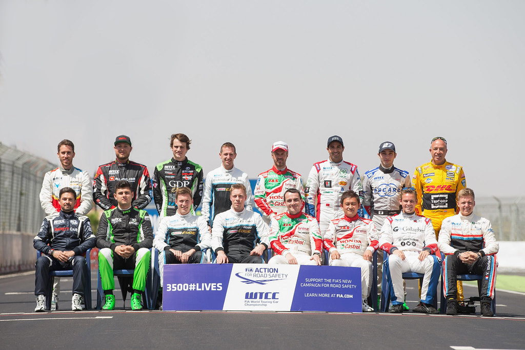 FIA ACTION SAFETY ROAD CAMPAIGN 2017 DRIVERS during the 2017 FIA WTCC World Touring Car Race of Morocco at Marrakech, from April 7 to 9 - Photo Jean Michel Le Meur / DPPI.