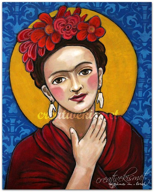 Fida Kahlo art by Regina Lord