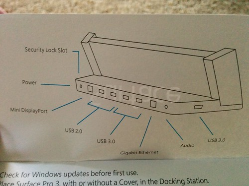 surface pro 3 dock manual