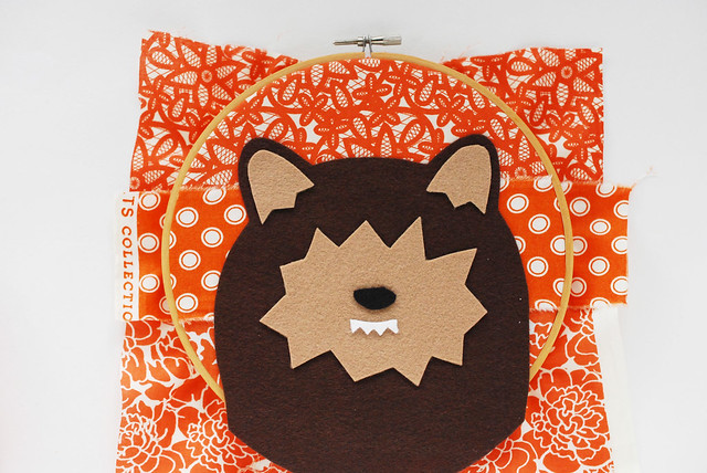 No-Sew Werewolf Hoop Art