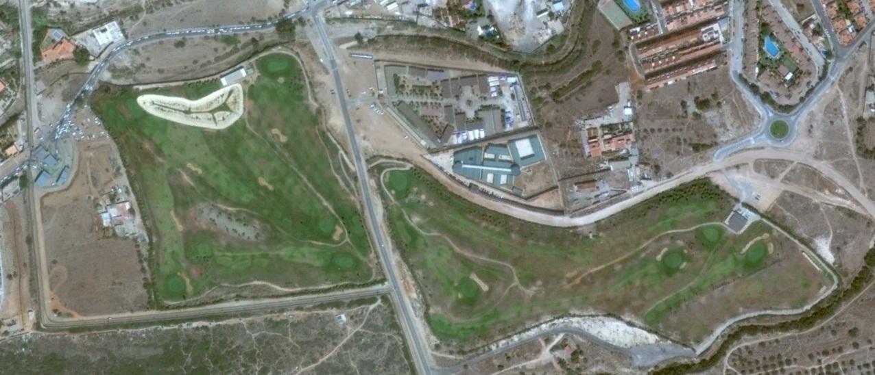 después, urbanismo, foto aérea,desastre, urbanístico, planeamiento, urbano, construcción,  campos de golf, verja, fortress europe