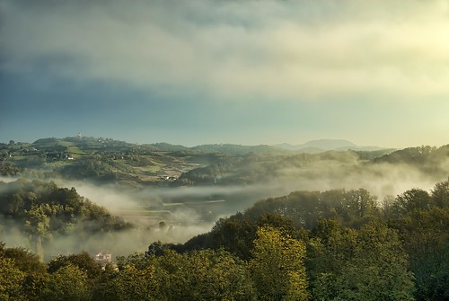 mist landscape zagorje