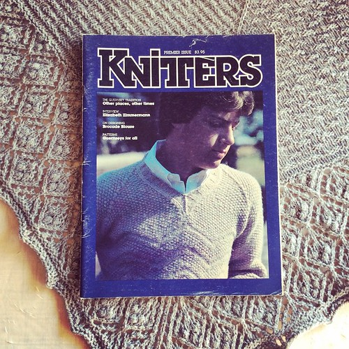 First knitting magazine I ever bought #tbt #knit #knitting #knittersofinstagram #knitstagram #elizabethzimmerman