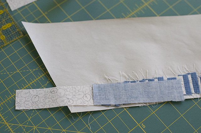 Using strips for tiny piecing