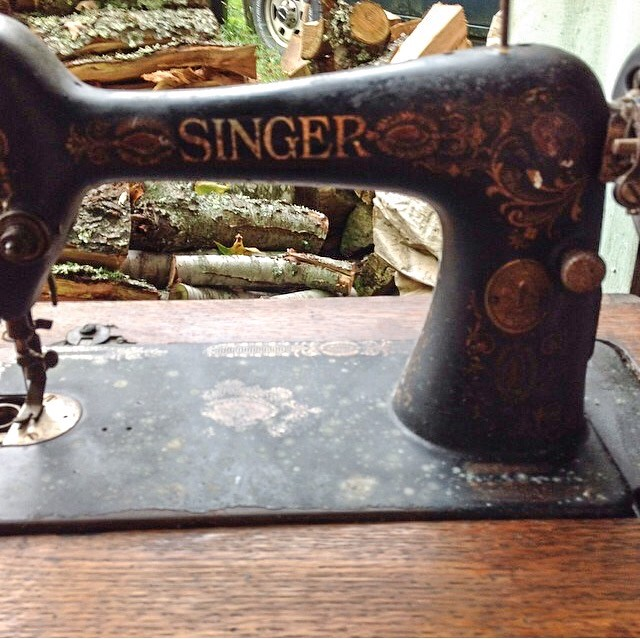 First Picture, Original Singer 66 Treadle in Table