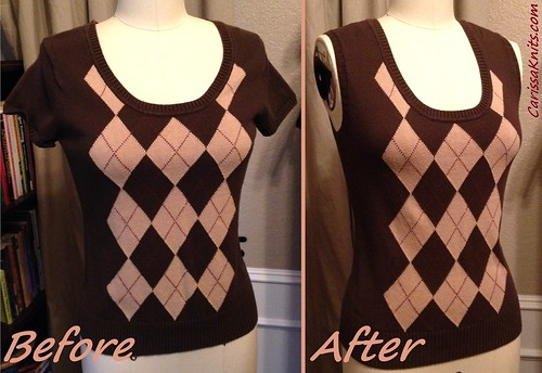 Sweater Vest - Before & After