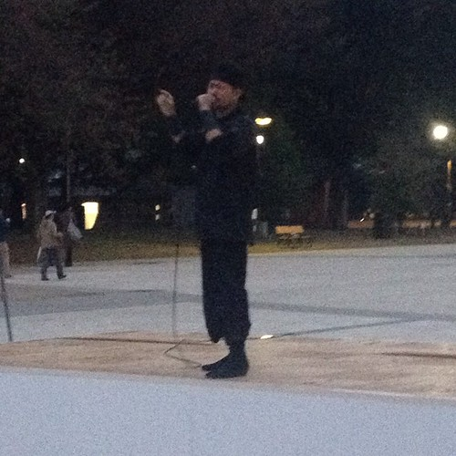 Guy rappin' in Ueno Park.