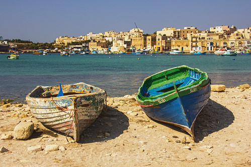old sea hot colour history beach weather landscape boats europe paint mediterranean harbour ships sunny places malta best buoy marsaxlokk rowingboats shipstrainsplanes