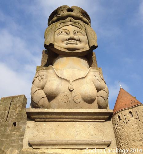 Carcassonne Eingang Figur
