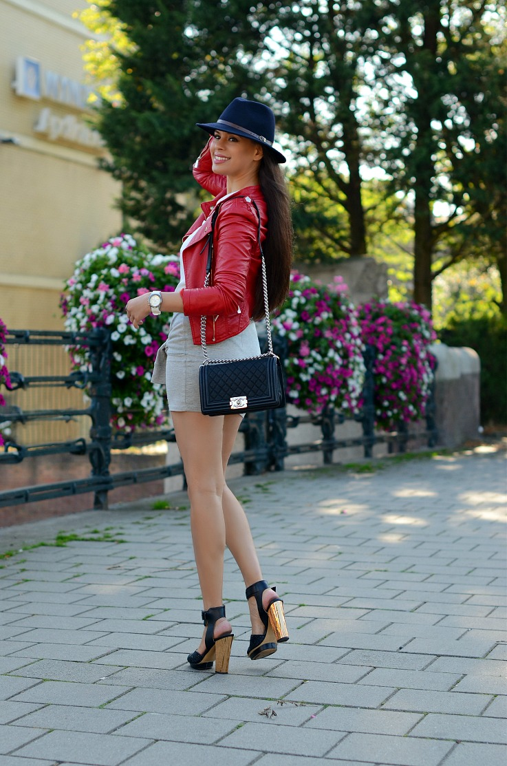 DSC_9354 Red Biker jacket, Chanel Boy Bag, Tamara Chloé
