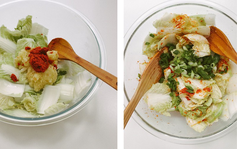 VEGAN KIMCHI: ADD GOCHUGARU AND PUREE
