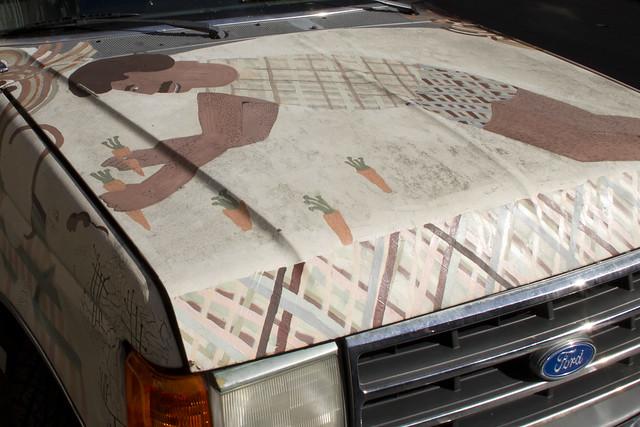 painted pickup truck in the tenderloin.  San Francisco (2010)