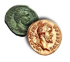Coins of Clodius Albinus and Septimius Severus