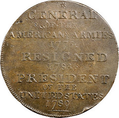 1792 CENT Washington President Cent, General of the Armies reverse