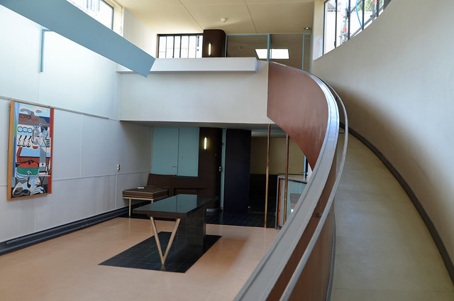 ramp from the salon villa la roche fondation le corbusier paris flickr photo sharing. Black Bedroom Furniture Sets. Home Design Ideas