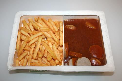 04 - Prima Currywurst mit Pommes - Packungsinhalt gefroren / Content frozen