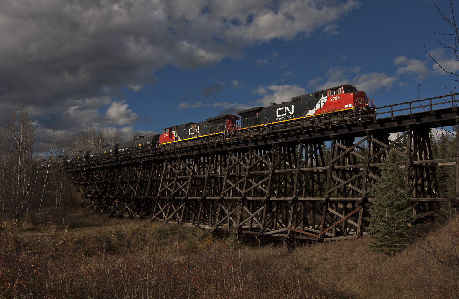 Whitecourt (AB) Canada  City pictures : bridge canada cn train branch diesel railway ab trains canadian ...
