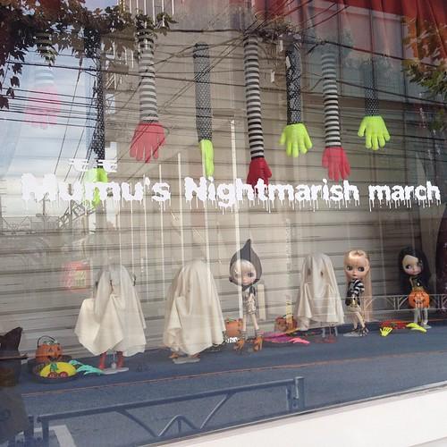 Adorably spooky window display on my walk today.