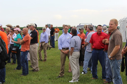 NRCS Chief Weller talks with partners, conservation agencies and landowners during a conservation tour in Illinois.
