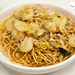 Hairy crab roe and its meat with rock shrimp in noodles