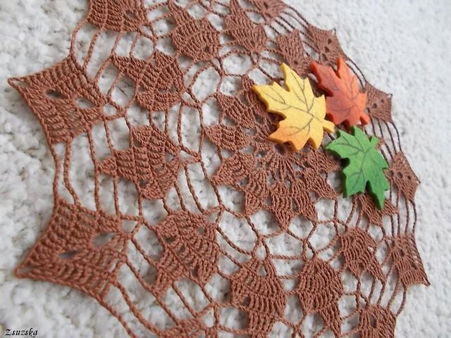 horgolt, terítő, ősz, autumn, crochet, doily, tablecloth (2)