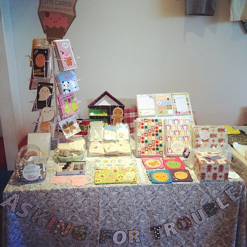 My mini stall. Sold more things to a few people who had bought my stuff years ago - so nice!