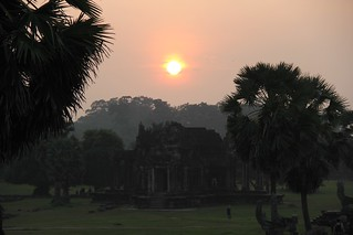 Sunset at Angkor Wat temple