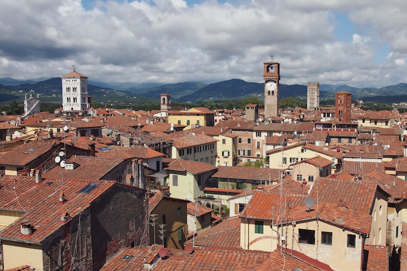 Lucca rooftops from Sant'Alessandro Maggiore