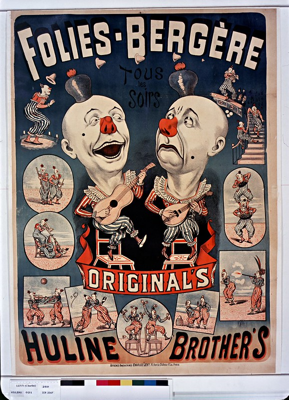 19th cent. french music-hall poster