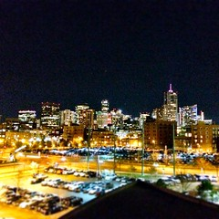 Downtown #Denver from the Pepsi Center