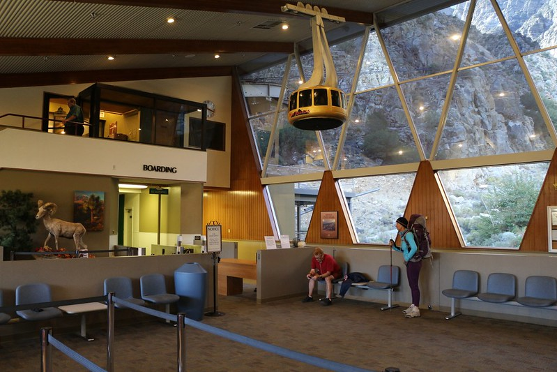 October Friday mornings are rather slow and mellow at the Palm Springs Tram Station