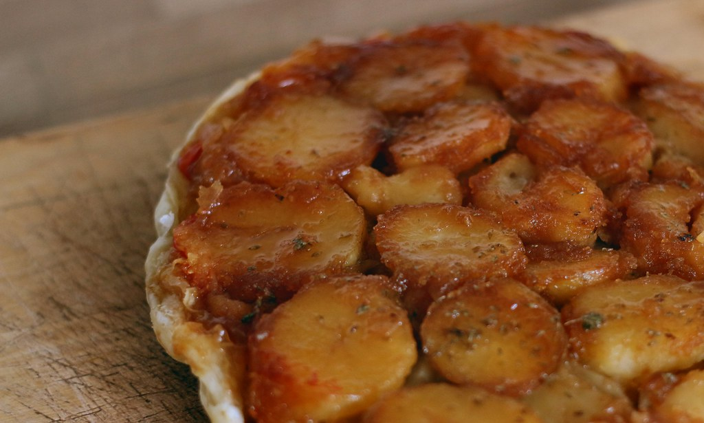 Potato and tomato tatin