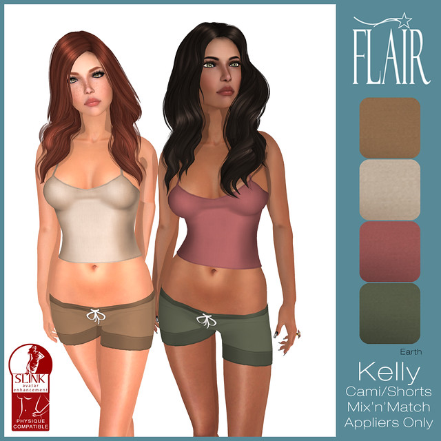 Flair - Kelly Cami Shorts set - Earth