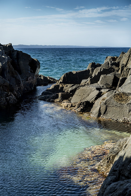 A Little Rock Pool Down Near The