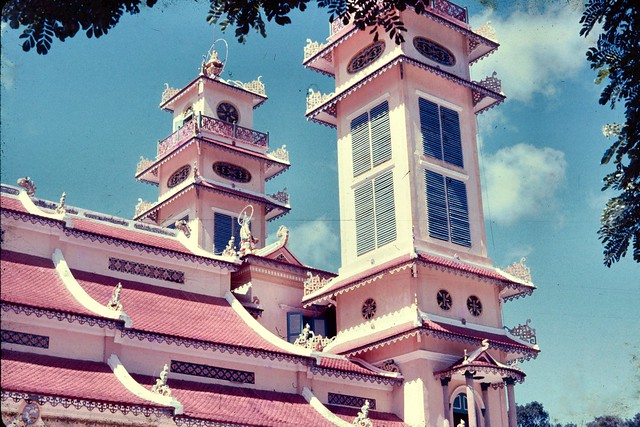Tay Ninh 1965-66. Cao Dai Temple - Photo by John Hansen