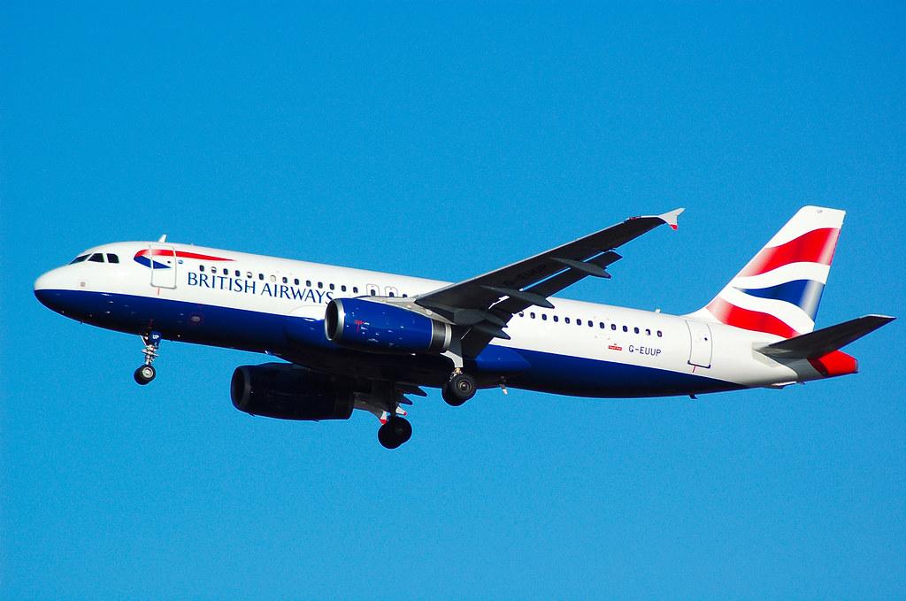 BRITISH A/W A320 G-EUUP