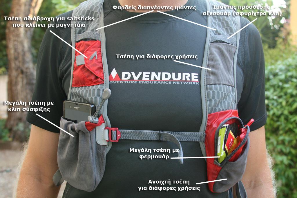 Το εμπρός μέρος του Revolution Race Vest. Ότι χρειάζεστε και ακόμη περισσότερα!