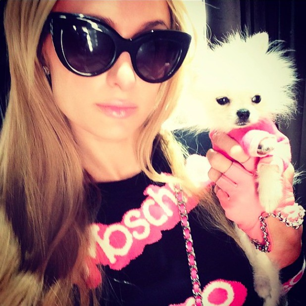 Paris Hilton virou a Barbie da vida real com look Moschino