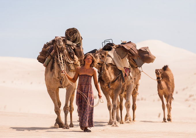 Mia Wasikowska takes a lonely and picturesque journey in TRACKS.
