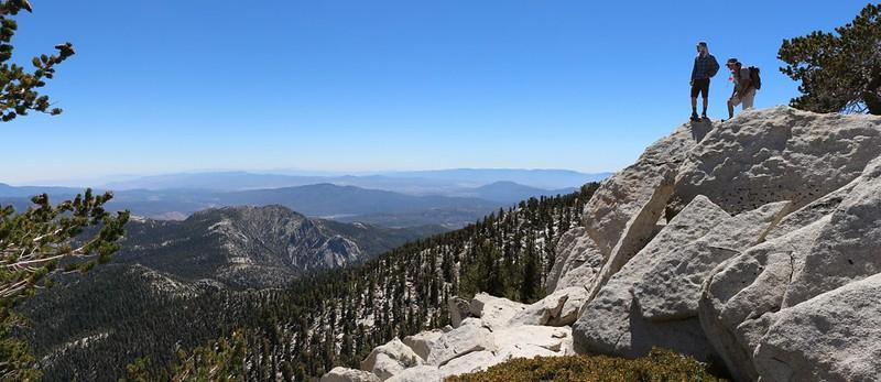 View southwest from Shirley Peak Saddle