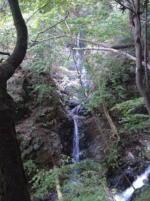秣の滝 登山道 無名の滝