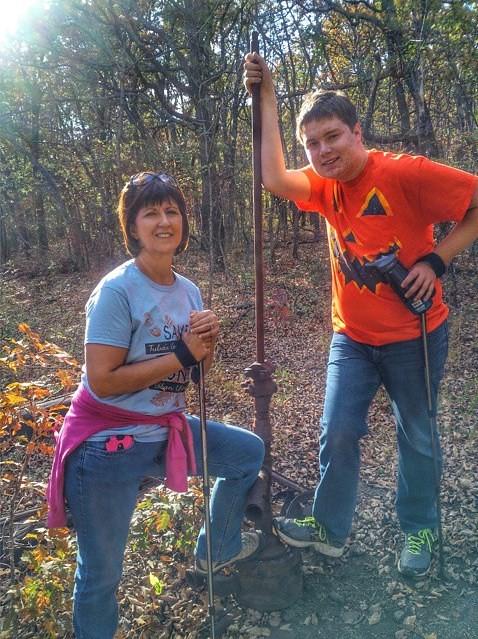 Heather and Logan found them selves an #oilwell on #turkeymountain #tulsa #oklahoma #igersok