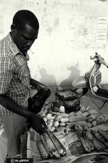 A corn vendor in Bahri, Sudan