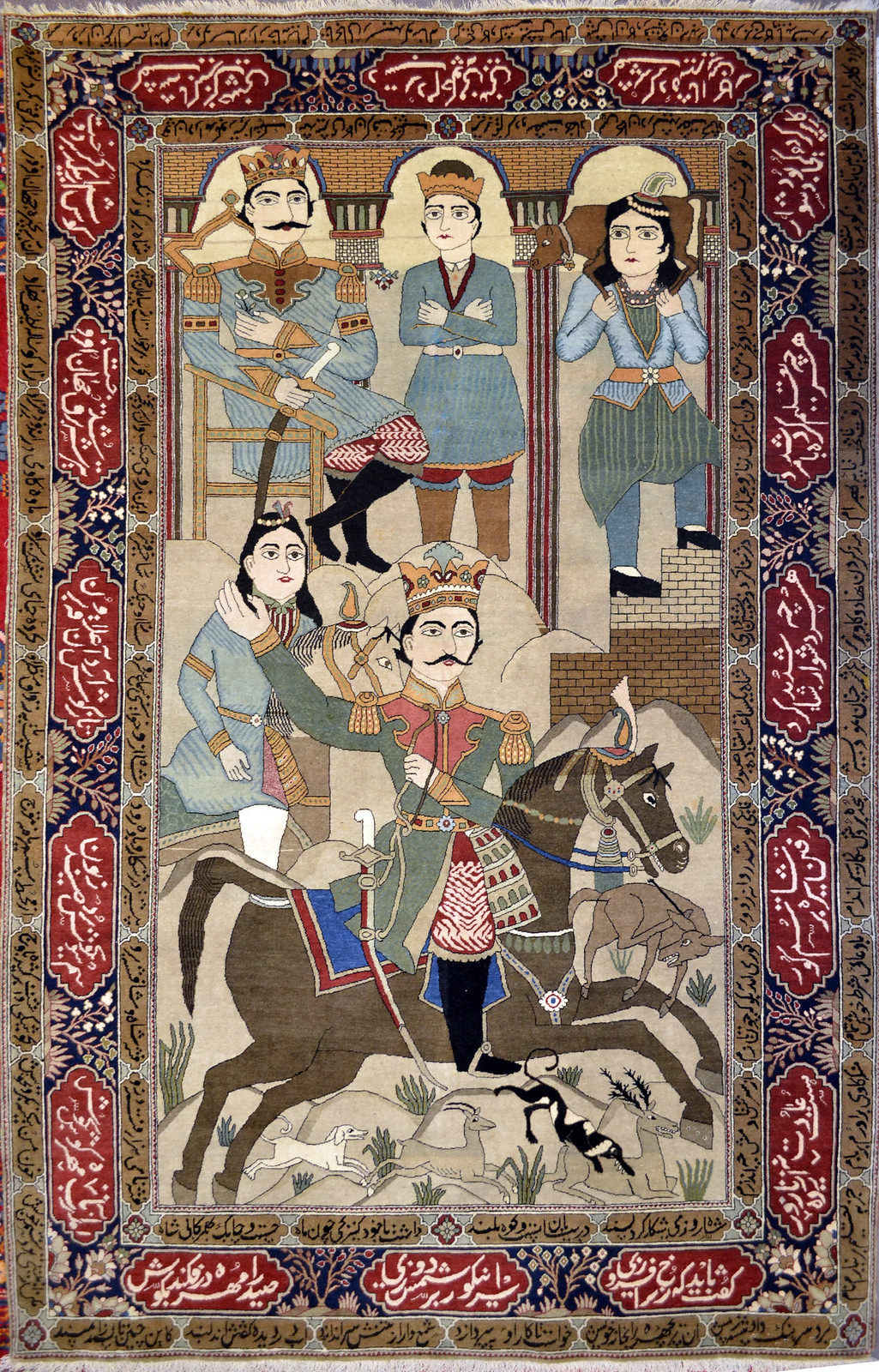 Mohtasham Kashan Wool Persian Rug Item Ab 4