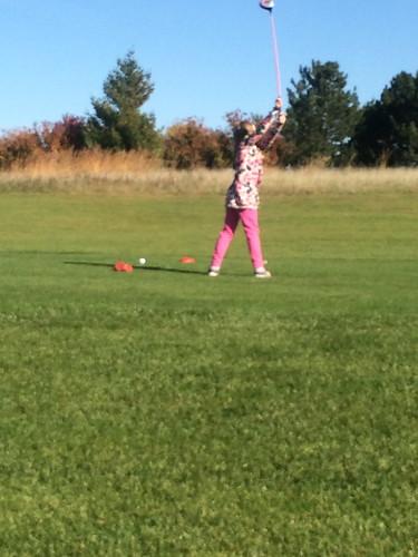 golfing Cora