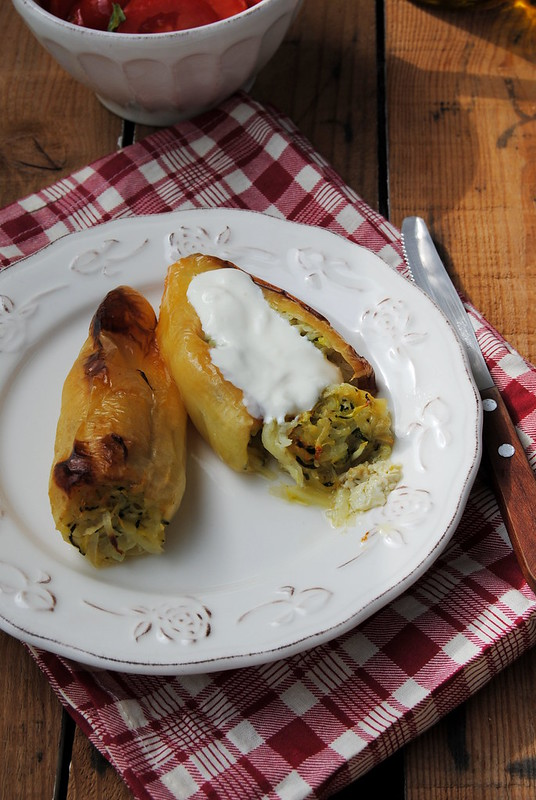 Potato and Zucchini Stuffed Peppers