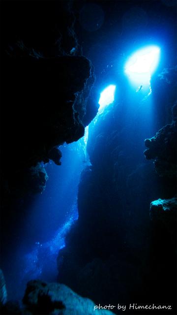 極上だった洞窟の光♪