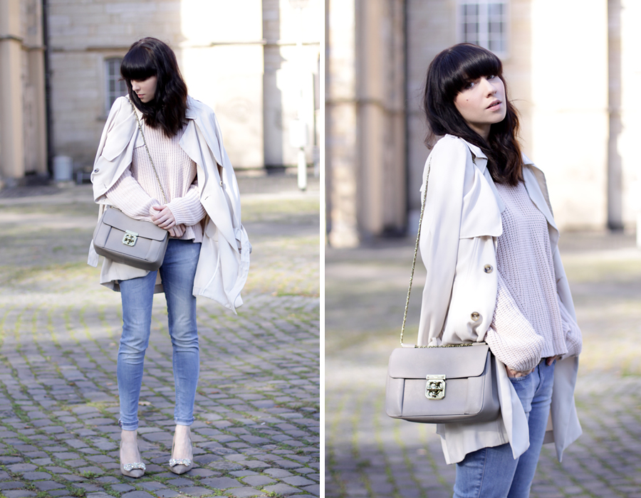 Chloé bag Monnier Frères nude trench coat bow pumps nude light autumn outfit blue jeans zara cats & dogs ootd outfit fashionblogger germany ricarda schernus 5