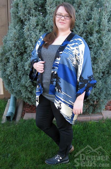 Anna Sui Silk Kimono - Front Side View
