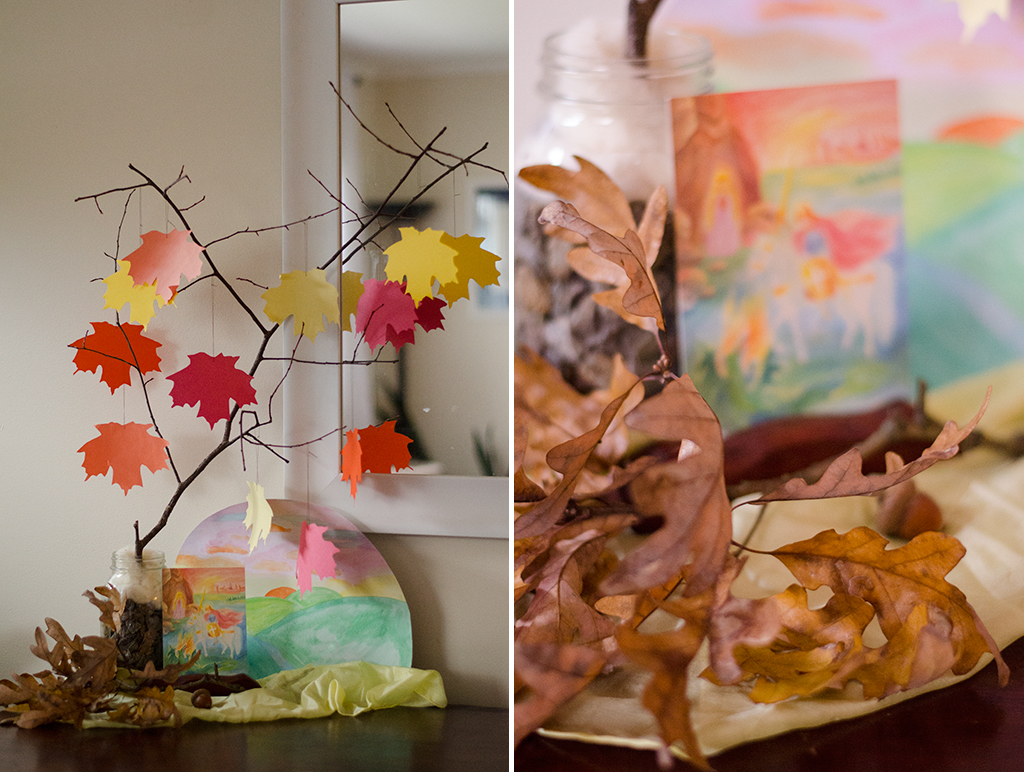 nature table collage